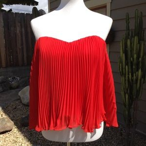 Guess Strapless Red Blouse